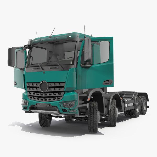 3D heavy utility truck 8x8