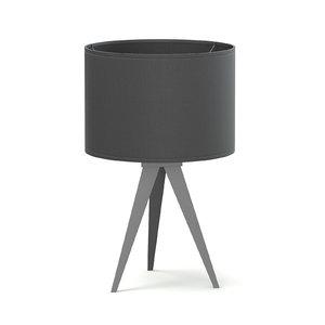 3D black table lamp