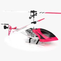 3D rc toy helicopter model