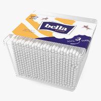 cotton sticks square box 3D