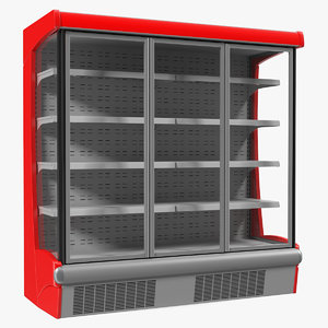 3D multideck display fridge model