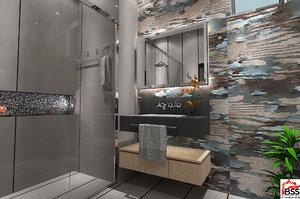 3D washroom design model