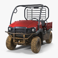 3D atv 4x4 dirty model