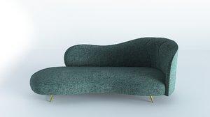 right arm chaise longue 3D model