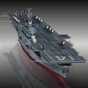 3D uss ticonderoga cv-14 cv model