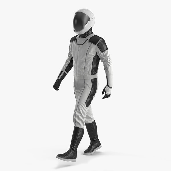 3D futuristic astronaut space suit model