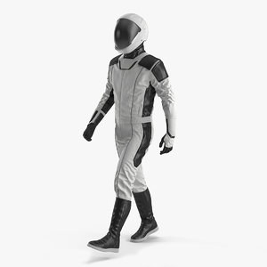 3D futuristic astronaut space suit model