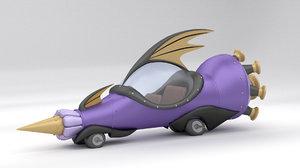 mean machine wacky races 3D model