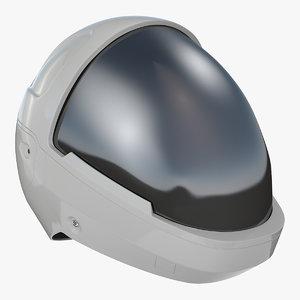 3D futuristic astronaut space helmet