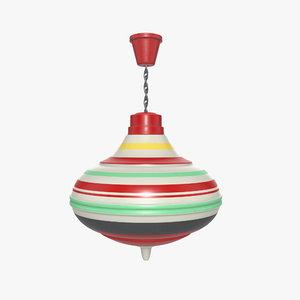 vintage toy spinner 3D model