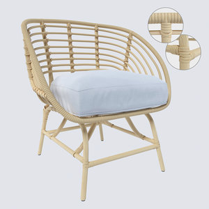 ikea buskbo armchair 3D model