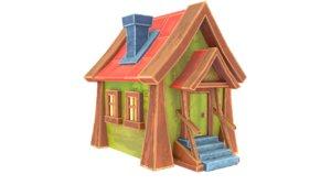 3D model house stilized