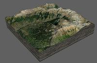 3D telluride mountains model