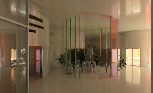 3D interior design kindergarten revit