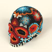 Handcraft Skull Huichol - Artesana Mexicana