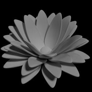 flower jewelry printers 3D model