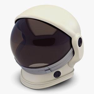 simple astronaut helmet v 3D model