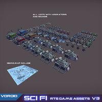 sci-fi rts assets set model