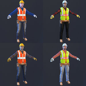 pack worker 3D