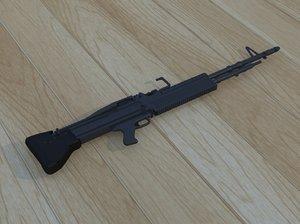 3D model weapon m60