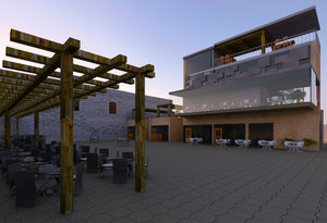 3D model mixed use outdoor