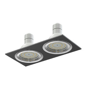 double black halogen light 3D model