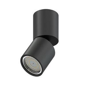3D black cylindrical light