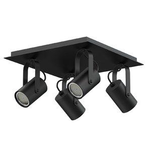 black quadruple lights 3D