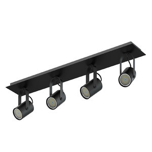 3D black quadruple lights model