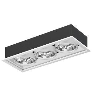 3D triple ceiling light model