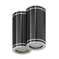 double black cylindrical light 3D model