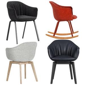 mdf italia chair 3D model