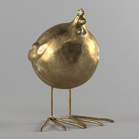 3D easter chicken model