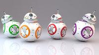 BB-8 Star Wars Droid 3D Model