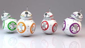 3D bb-8 droids model