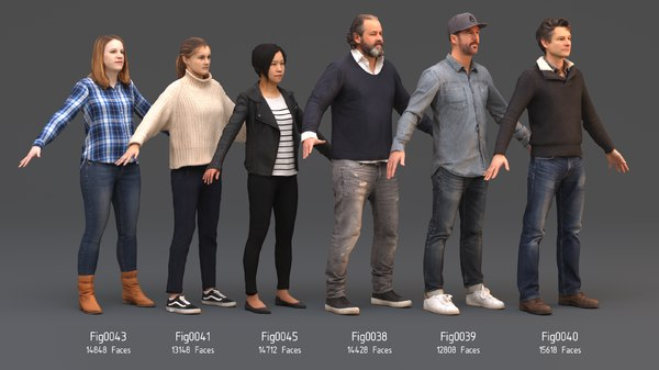 3D rigged photorealistic rendering model