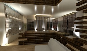 3D model revit interior design studio