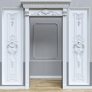 stucco wall 3D
