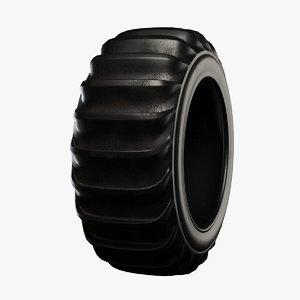 sand tire 3D model