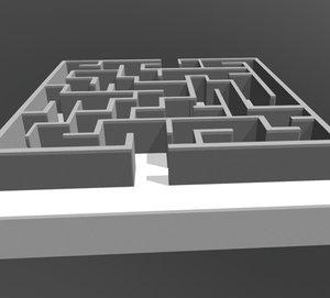 3D model labyrinth - maze