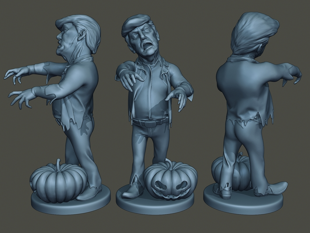 donald trump zombie halloween model