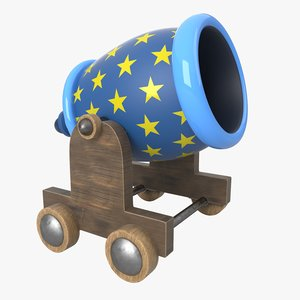 cartoon cannon 3D model