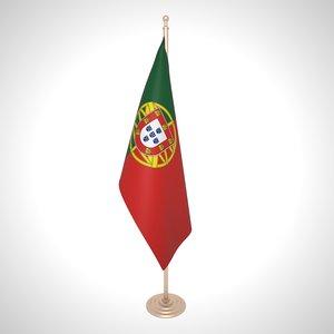 3D portugal flag