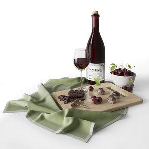 wine chocolate 3D model