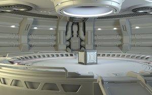 sci-fi scene renders 3D