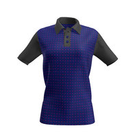 3D women polo shirt model