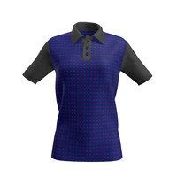 3D women polo shirt model