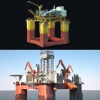 3D oil production platform set