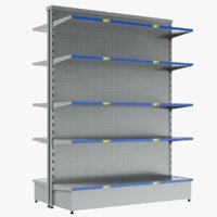 3D display shelves modeled model