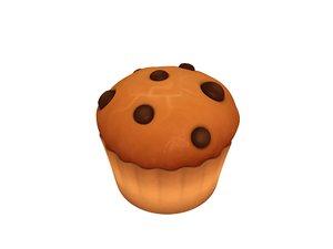 muffin cartoon 3D model